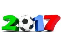 Illustrazioni 3d del buon anno 2017 Immagine Stock