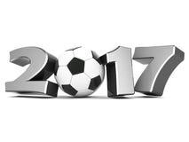 Illustrazioni 3d del buon anno 2017 Fotografia Stock Libera da Diritti