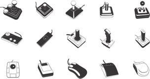 Illustrazioni dei comandi del gioco Fotografia Stock