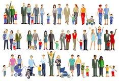 Illustrazioni dei gruppi della famiglia Immagine Stock Libera da Diritti