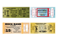 Illustrazioni del biglietto di concerto Fotografia Stock
