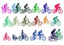 Illustrazioni del ciclista illustrazione vettoriale