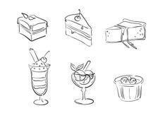 Illustrazioni del dessert Fotografia Stock