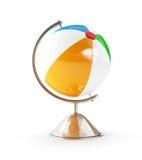 Illustrazioni del globo 3d della spiaggia della palla Immagine Stock