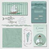 Illustrazioni del mare Fotografia Stock