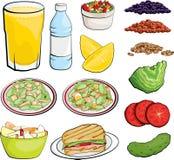 Illustrazioni dell'alimento Fotografie Stock Libere da Diritti