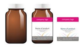 Illustrazioni della bottiglia della medicina Immagini Stock