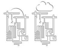 Illustrazioni della costruzione e di ingegneria illustrazione vettoriale