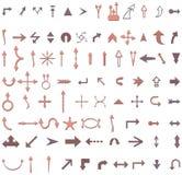 Illustrazioni della freccia Immagine Stock