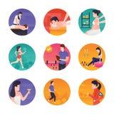 Illustrazioni della stazione termale e di forma fisica illustrazione di stock