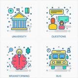 Illustrazioni delle icone e di concetti di istruzione illustrazione vettoriale