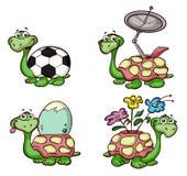 Illustrazioni delle tartarughe Fotografia Stock Libera da Diritti