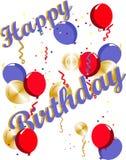 Illustrazioni di buon compleanno Fotografie Stock Libere da Diritti