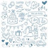 Doodles di nozze Fotografia Stock Libera da Diritti
