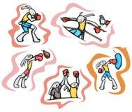 Illustrazioni di sport del coniglietto Fotografie Stock Libere da Diritti