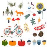 Illustrazioni di vettore di clipart di caduta di autunno illustrazione vettoriale