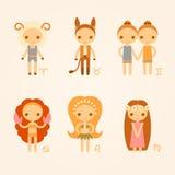 Illustrazioni di vettore dei segni dello zodiaco Immagini Stock