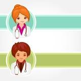 Illustrazioni di vettore di medici Fotografia Stock