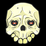 Illustrazioni di vettore isolate cranio di Halloween royalty illustrazione gratis