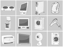 Illustrazioni domestiche dell'attrezzatura Immagine Stock