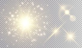 Illustrazioni dorate delle luci Fotografia Stock