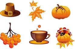 Illustrazioni iconiche di ringraziamento Fotografie Stock