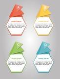 illustrazioni infographic Fotografie Stock Libere da Diritti