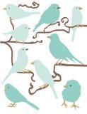Illustrazioni semplici dell'uccello Immagine Stock