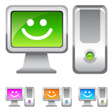 Illustrazioni sorridenti del computer Fotografia Stock