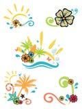 Illustrazioni tropicali Fotografie Stock