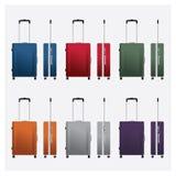 Illustrazioni variopinte di vettore dei bagagli di viaggio Fotografia Stock