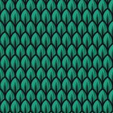 Illustrazioni verdi fresche del modello della foglia royalty illustrazione gratis