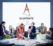 Illustreer creëren het Artistieke Concept van Verbeeldingsideeën stock fotografie