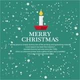 Illustreer Kerstmis voor groetachtergrond royalty-vrije illustratie