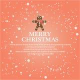 Illustreer Kerstmis voor groetachtergrond vector illustratie