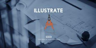 Illustreer trekken de Inspiratieconcept van de Verbeeldingscreativiteit royalty-vrije stock foto's