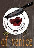Illustrerad affisch för teaterlekköpman av venice fotografering för bildbyråer