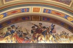 Illustrerad amerikansk revolution arkivbild