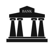 Illustrerad banksymbol stock illustrationer