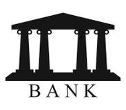 Illustrerad banksymbol royaltyfri illustrationer