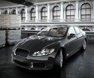 Illustrerad bil 3d för lyxig sedan Arkivbilder