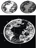 Illustrerad jord Arkivfoto