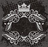 Illustrerad kant med kronan Arkivfoto