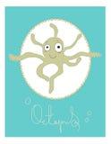 Illustrerad kortbläckfisk Royaltyfri Bild