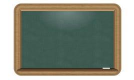 Illustrerad svart tavla för vektorgräsplan med den trevliga realistiska wood gränsen Arkivbild