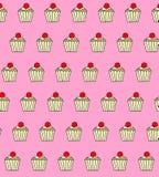 Illustrerad upprepande muffindesigntapet Royaltyfri Fotografi