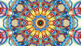 Illustrerade abstrakt hjärta formade gummiband bakgrund Arkivbild