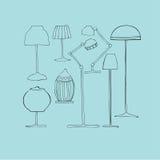Illustrerade lampor vektor illustrationer