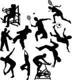 Illustrerade sportar Fotografering för Bildbyråer