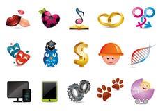 Illustrerade symboler Arkivfoton
